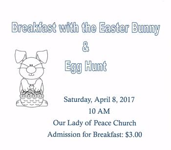 Breakfast with the Easter Bunny/Easter Egg Hunt
