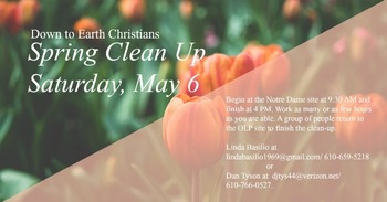 Down to Earth Christians: Spring Clean Up