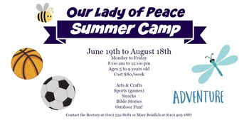 OLP Summer Camp for Ages 5 to 9!