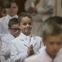 Children of St. Mary Parish receive 1st holy Communion!