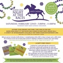 Mardi Gras Night at the Races - Save the Date, February 22nd!