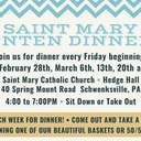 Saint Mary Lenten Dinners