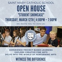 Student Showcase Open House!