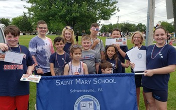 Saint Mary Marches in Harleysville!