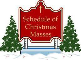CHRISTMAS MASS SCHEDULE