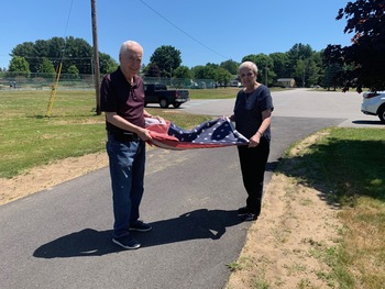 New American Flag Donated at MQP