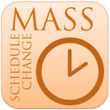 MASS TIME CHANGES at St Joe's