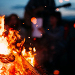 Young Adult Bonfire and Speaker