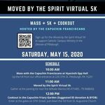 Virtual 5K + Mass + Cookout