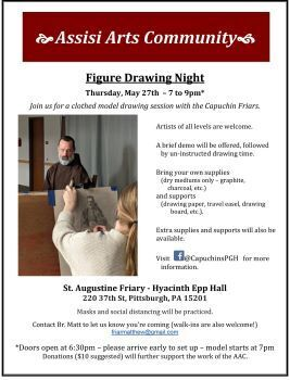 Figure Drawing Night, Hosted by the Assisi Arts Community