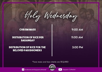 Holy Wednesday Schedule