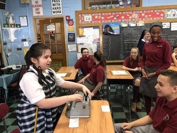 7th Grade Students Learn from Visually-Impaired Peers