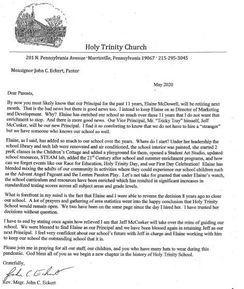 A Letter from Monsignor Eckert
