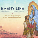 "October is Respect Life Month - ""Every Life: Cherished, Chosen, Sent"""