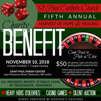 Charity Benefit for Saint Paul Honduras Clinic - November 10, 2018