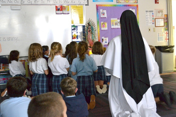 The Dominican Sisters of Mary, Mother of the Eucharist, Join Bishop Louis Reicher Catholic School