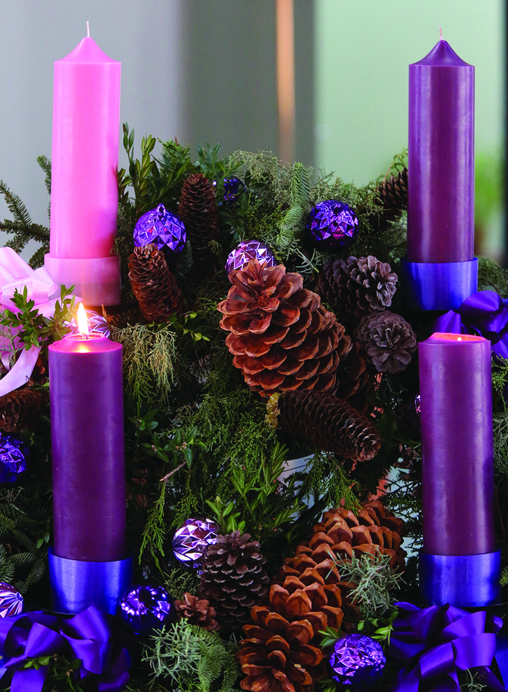 Advent, the season of joyful expectation before Christmas, began on Dec. 1 this year. The Advent wreath, with a candle marking each week of the season, is a traditional symbol of the liturgical period.  Advent is a time of preparation in which we await the feast of the Nativity of Christ and we hope for the day when Christ will come again. (CNS photo by Bob Roller)