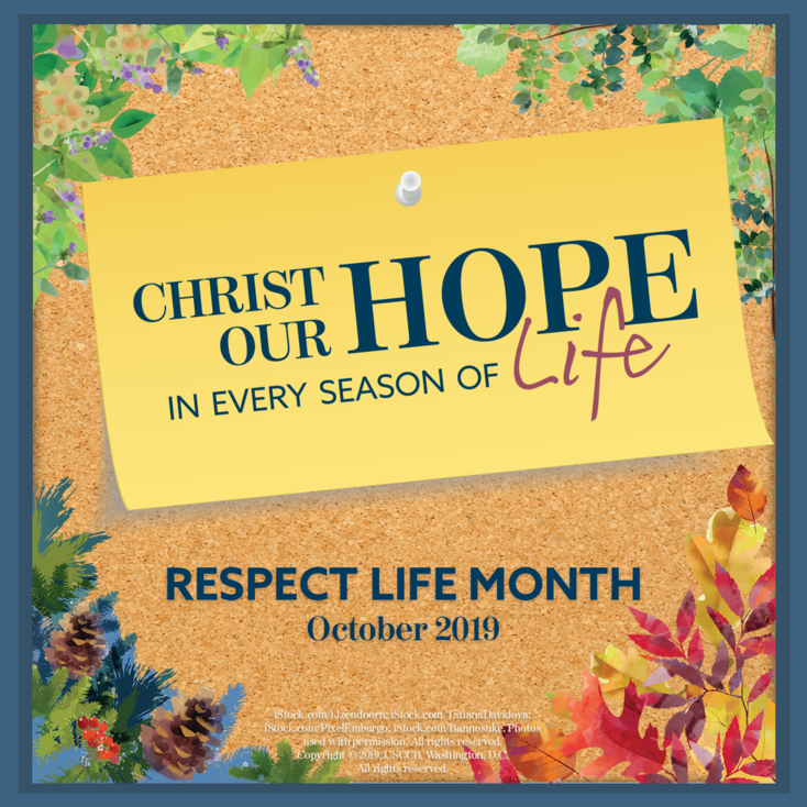 Flyer for Respect Life Month