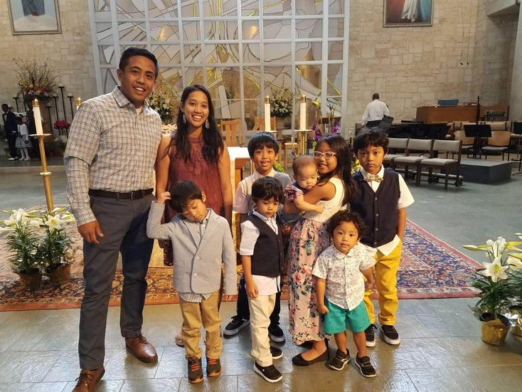 Thanks to tuition assistance programs Trisha and Brian Galvan are able to send their children to St.  Louis Catholic School in Austin. (Photo courtesy the Galvan family)