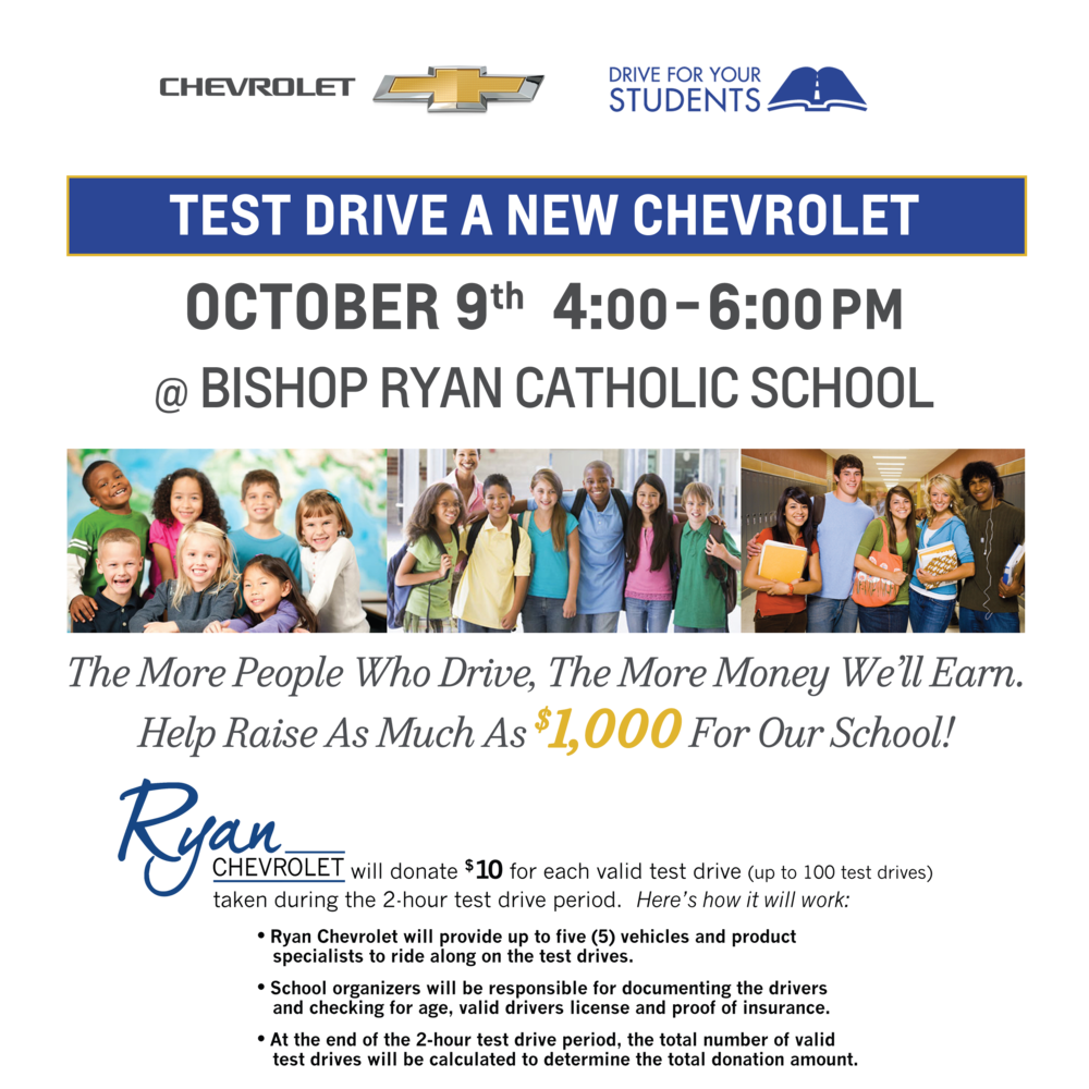 Drivers Must Be 21 Years Of Age Or Older With A Valid Driveru0027s License And  Proof Of Insurance. No Purchase Necessary. Ryan Chevrolet Will Donate $10  For ...