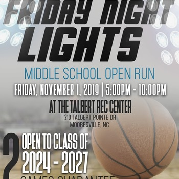 CGHR Presnts Friday Night Lights Middle School Open Run (NC)
