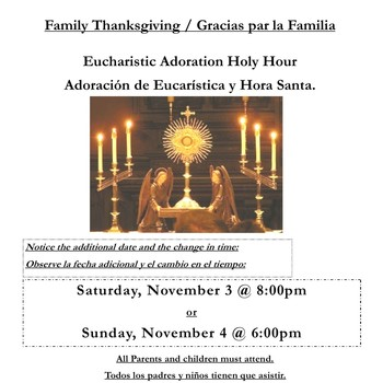Family Thanksgiving Holy Hour
