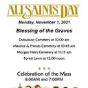 All Saints Day Blessing of the Graves