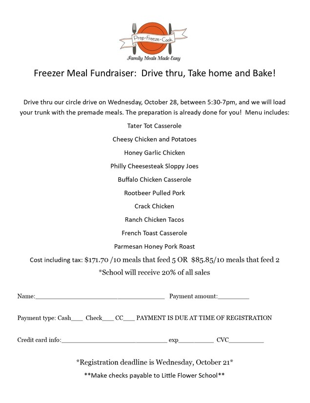 Freezer Meal Fundraiser