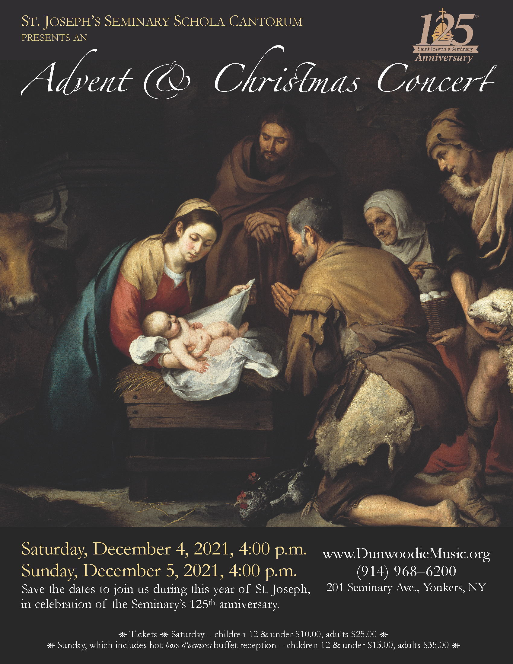 2021 Annual Schola Advent & Christmas Concerts