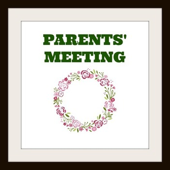 Parents Meeting - Grades 1 - 7