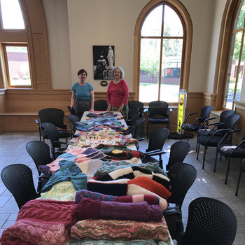 Knitting , Quilting and Crocheting with Love Committee - Gathering Hall
