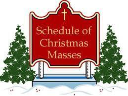 Thanksgiving and Christmas Mass Schedules