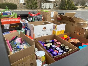 Capital Rescue Mission Food drive Thank You , Photos in Food Pantry and Photo Album Sections