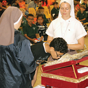 St. Elizabeth Ann Seton students venerate relic of St. John Paul II