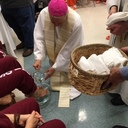 Archbishop Aymond visits the imprisoned on Holy Thursday