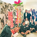 St. Dominic students collaborate on show-stopping installation for NOMA's 'Art in Bloom'
