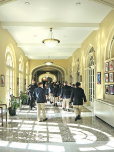St. Louis King of France students explore Notre Dame Seminary