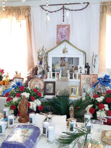 Gentilly altar of friends welcomes all to feast
