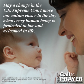 Novena for the Legal Protection of Human Life - Week 7