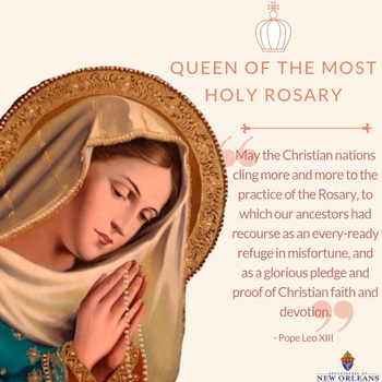 Mary, Queen of the Most Holy Rosary