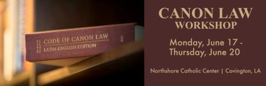 Canon Law Course Registration - Archdiocese of New Orleans
