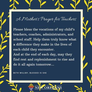 A Prayer for Our Children's Teachers