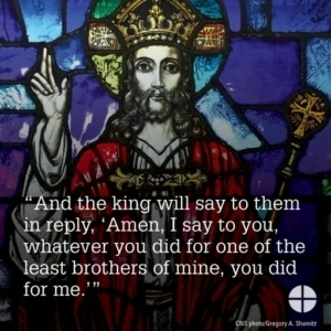 Feast of Christ the King is Sunday