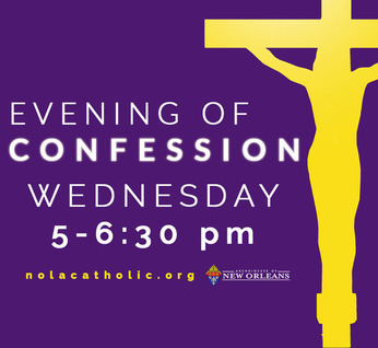 Evening of Confession is Wednesday in the Archdiocese of New Orleans