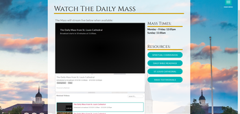 Watch Mass from St. Louis Cathedral