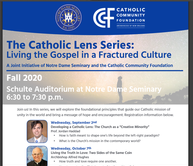 The Catholic Lens Series Begins Tonight