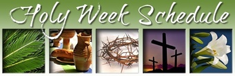 Check out our Holy Week Schedule!