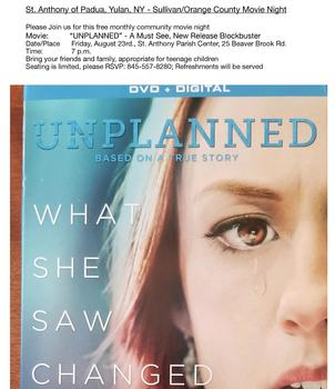 Free Community Movie Night: Unplanned