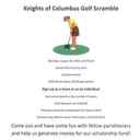Knights of Columbus to Host Golf Scramble