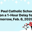 School Delay - Feb. 6, 2020